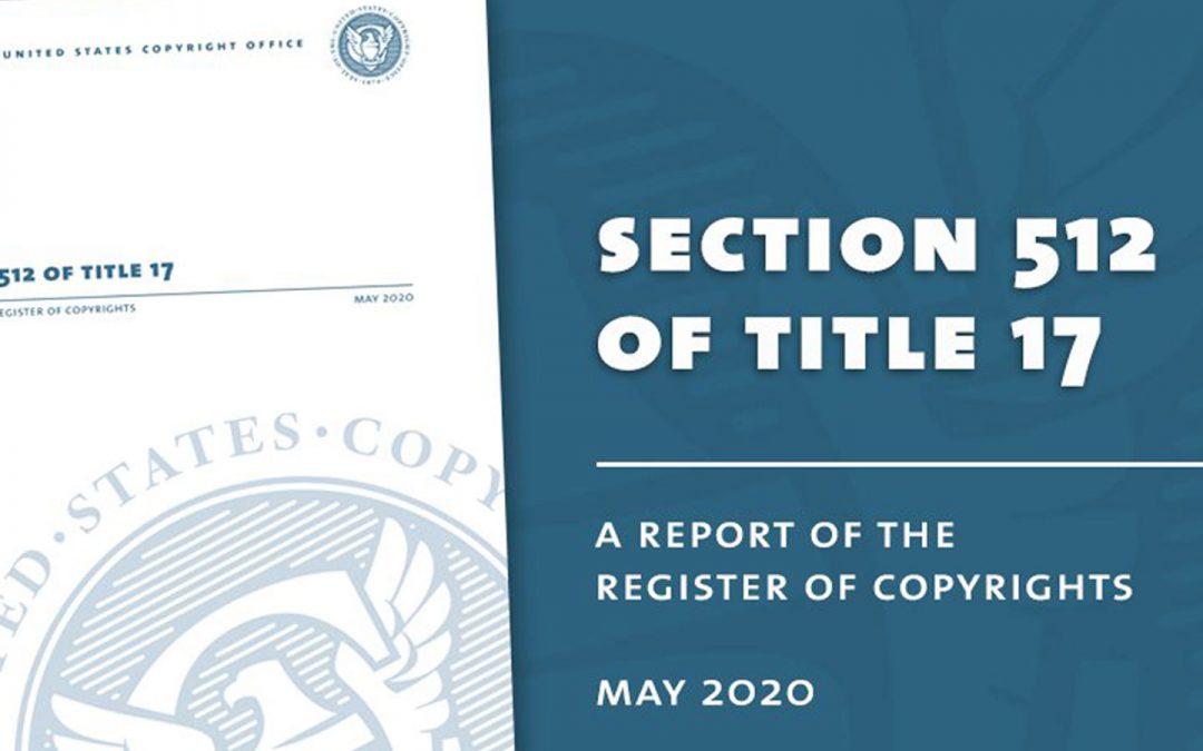 The Modernization Of Title 17 Section 512